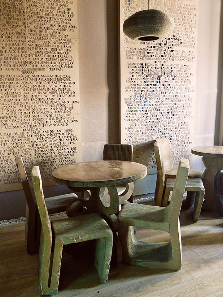 L'Atelier Cafe, Cluj – Romania: Spaces, Cafe Interiors, Idea, Cardboard Furniture, Restaurant Interiors Design, L Atelier Cafe, Cafe Design, L Ate Cafe, Design Blog