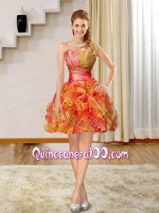 2015 Luxurious Sweetheart Dama Dress in Multi Color