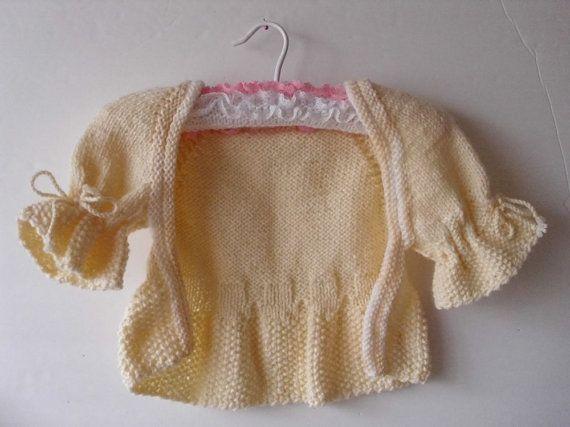 EASTER /SPRING  Baby girl  sweater /shrug / by MarikaHandKnits, $32.00