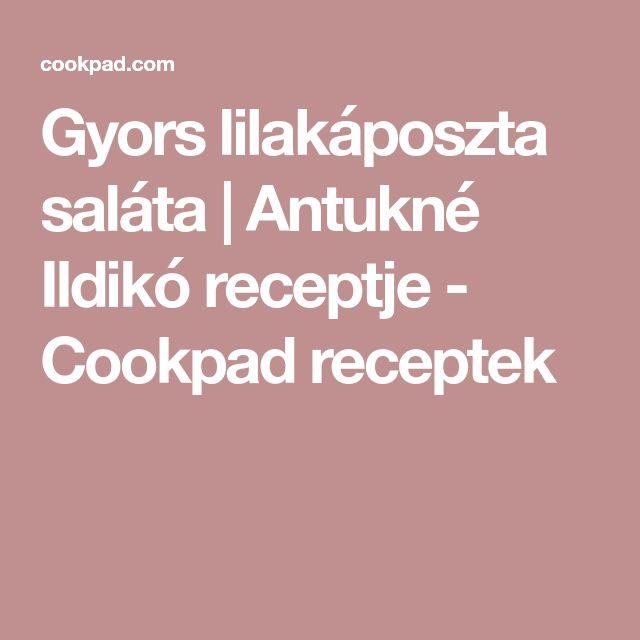 Gyors lilakáposzta saláta   Antukné Ildikó receptje - Cookpad receptek