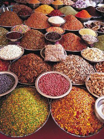 Passage en Inde avec un étal qui fait rêver !!   Aline ♥  exotic spices
