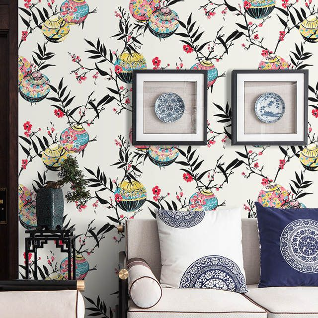 Online Shop Chinese Wallpaper Flower And Bird Classical Non Woven Wallpaper Bedroom Warm Tv Background Wall Paper Wallpaper Bedroom Chinese Wallpaper Wallpaper Buy wallpaper online cheap