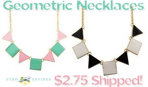 Utah Sweet Savings: Geometric Statement Necklace for $2.75 Shipped!