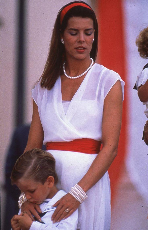 Princess Caroline of Monaco with Andrea Casiraghi.July,1989.