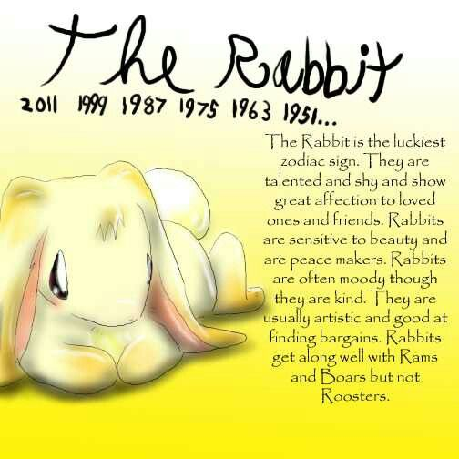 Chinese Zodiac of Rabbit