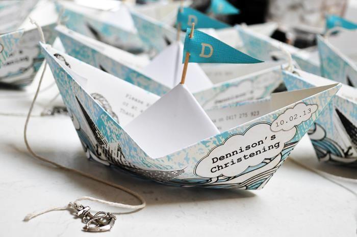 Paper Boat Christening Party via Kara's Party Ideas | Kara'sPartyIdeas.com #Nautical #Ship #BoyBabyBlessing #Party #Ideas #Supplies (26)