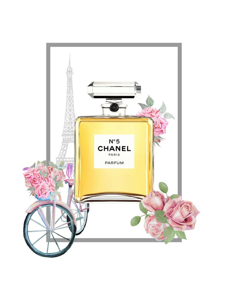 A4 Chanel Eiffel Tower No 5 Paris Perfume Glossy