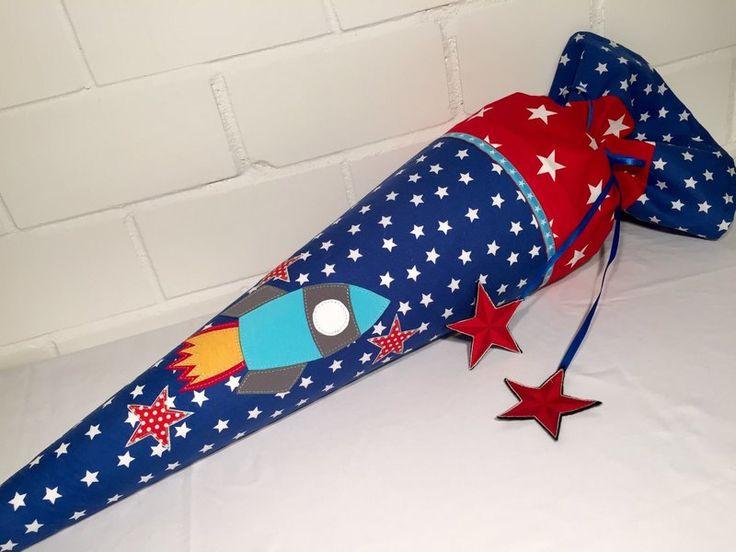 """Schultüten - Schultüte """"Rakete"""" mit Name und Datum möglich - ein Designerstück von HandmadeByAdrianna bei DaWanda"""