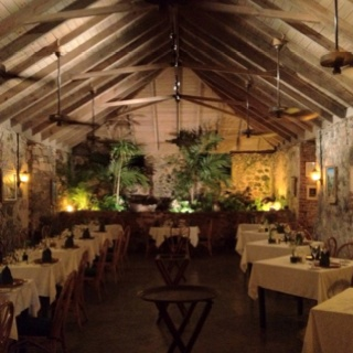 The Sugar Mill dining room in Tortola ... Some of the best food I've had, in a tropical paradise!