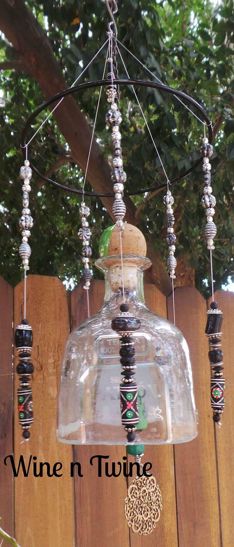 Botella de Tequila Patrón viento Chime-375 ml