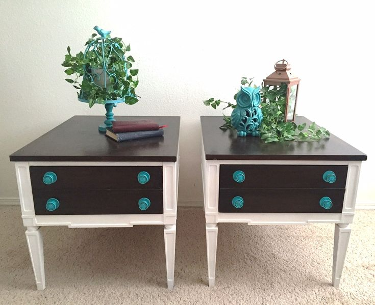 Storage Auction Junk to Functional beautiful side tables