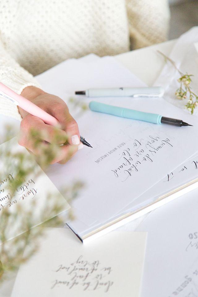 Kuretake Jet Pens + hand lettering - Coco/Mingo