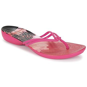 Chaussures Femme Tongs Crocs CROCS ISABELLA GRAPHIC FLIP W Rose