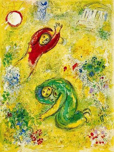 Les fleurs saccagées - Marc Chagall prints https://www.printed-editions.com/art-print/marc-chagall-les-fleurs-saccag%C3%A9es-66918