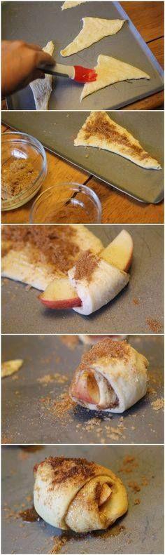 Rolinho de maçã *-*