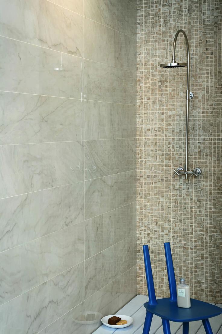 #Marazzi   #Allmarble   #porcelain   #tiles   #bathroom   #marbleeffect   #andreaferrari   #shower   #mosaic  #walls