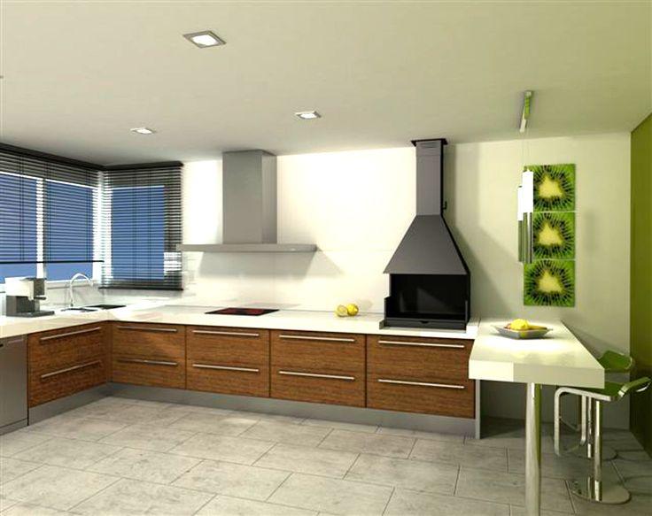 Barbacoa para interior cocina moderna barbacoas y for Barbacoa patio interior