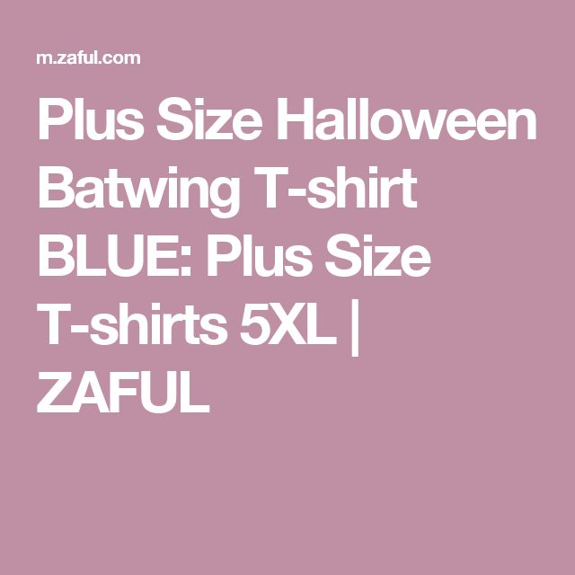 Plus Size Halloween Batwing T-shirt BLUE: Plus Size T-shirts 5XL   ZAFUL