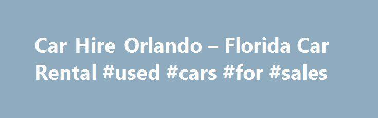 Car rental deals in orlando fl