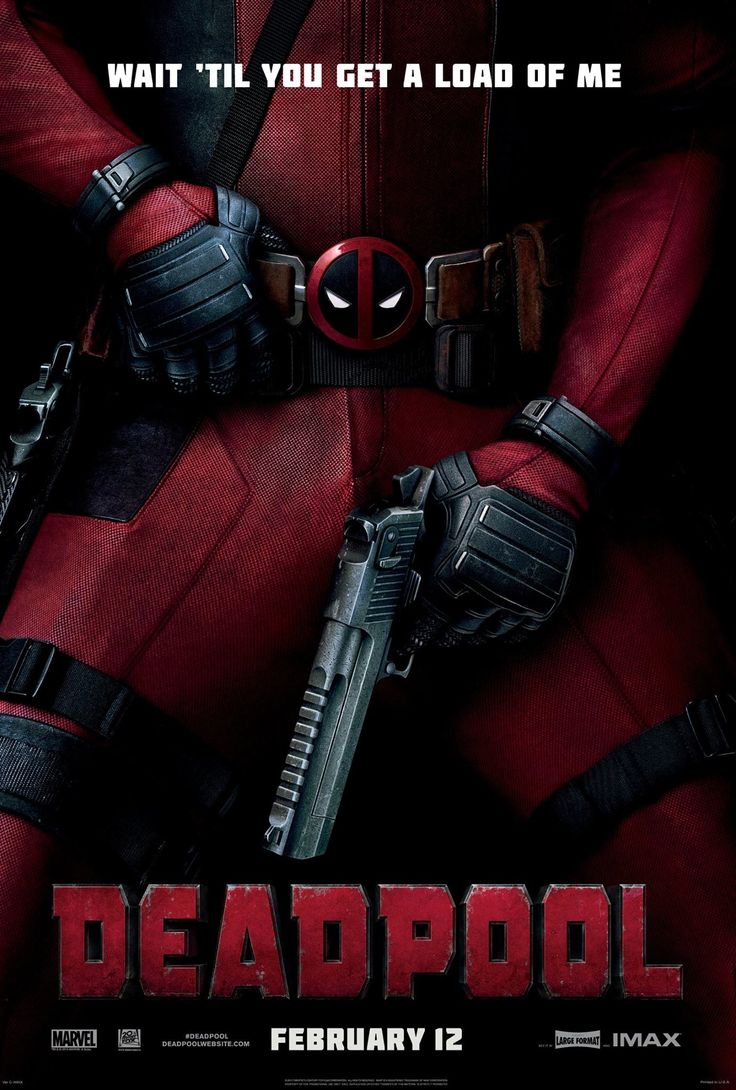 Deadpool (2016) - US Poster - A former Special Forces operative turned mercenary is subjected to a rogue experiment that leaves him with accelerated healing powers, adopting the alter ego Deadpool.