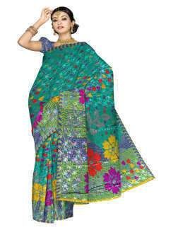 UNM5244-Beautiful corporate green Art silk saree