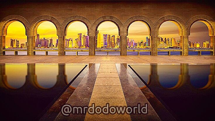 #arches #architecture #building #city #skyline #modern #water #reflection, #view #evening #sunset #dusk, #design #classic #style #columns #photos #photography #wonderful #old #history
