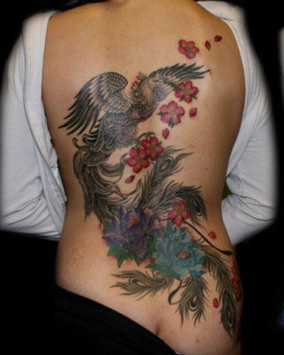 inspiration for future back piece phoenix tattoo flowers tattoos pinterest tattoo. Black Bedroom Furniture Sets. Home Design Ideas