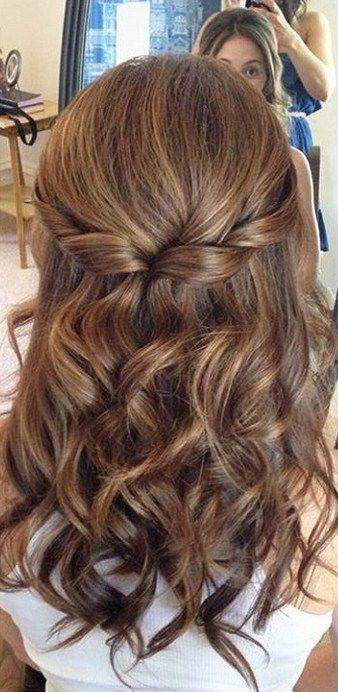Halb hoch, halb runter Frisuren (11) Hochzeitsfrisuren halb hoch, halb runter, mit Schleier …   – Hair styles