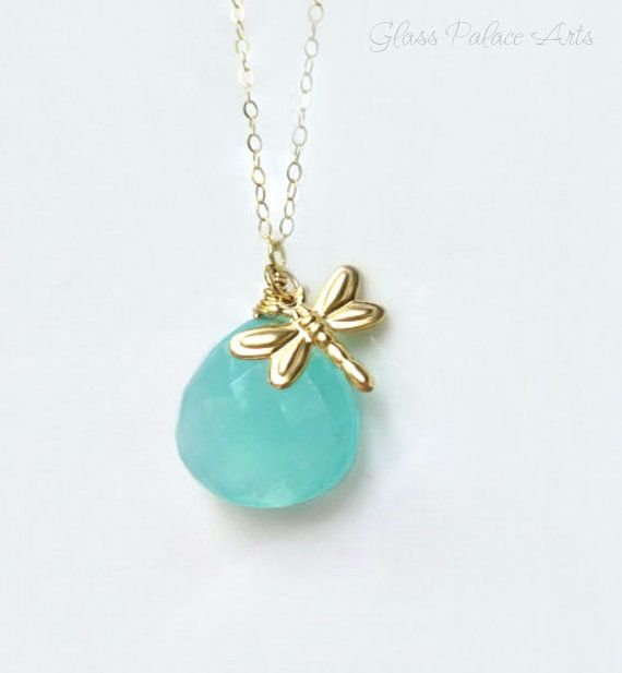 Gold Dragonfly Necklace Firefly Necklace Dragonfly Pendant