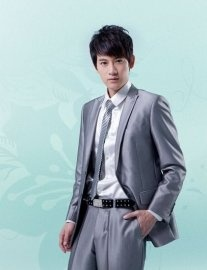 Lapelled Single Button Long Sleeve Groom Suit    $162.15