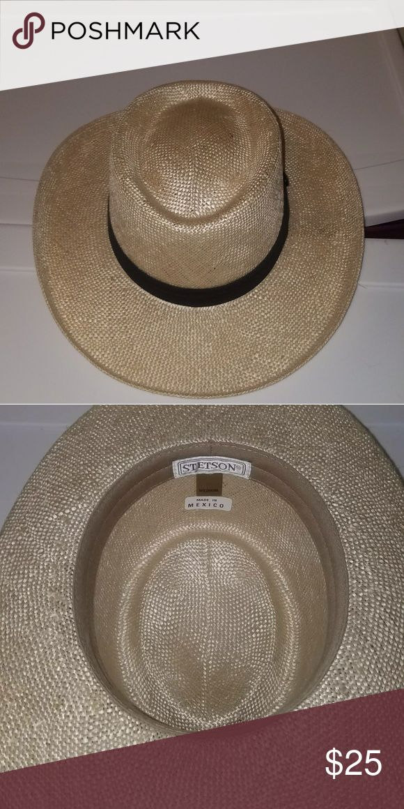Stetson Straw Hat Stetson Straw Hat  Size Medium  Fits 6 7/8ths and 7  Worn several times Stetson Accessories Hats