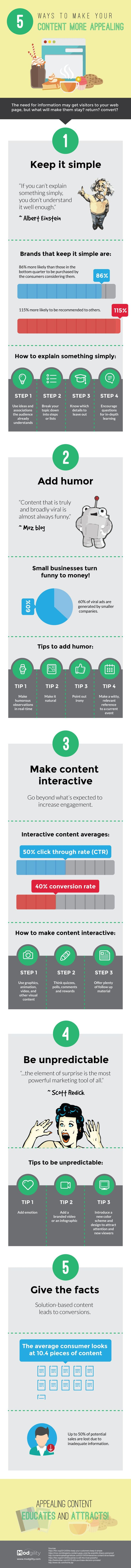 5 Ways To Make Content More Appealing [Infographic]