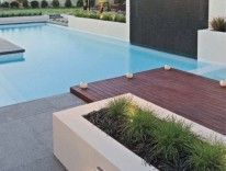 #Granite #PoolPaving with a timber deck offsetting the stone. Creating a modern look
