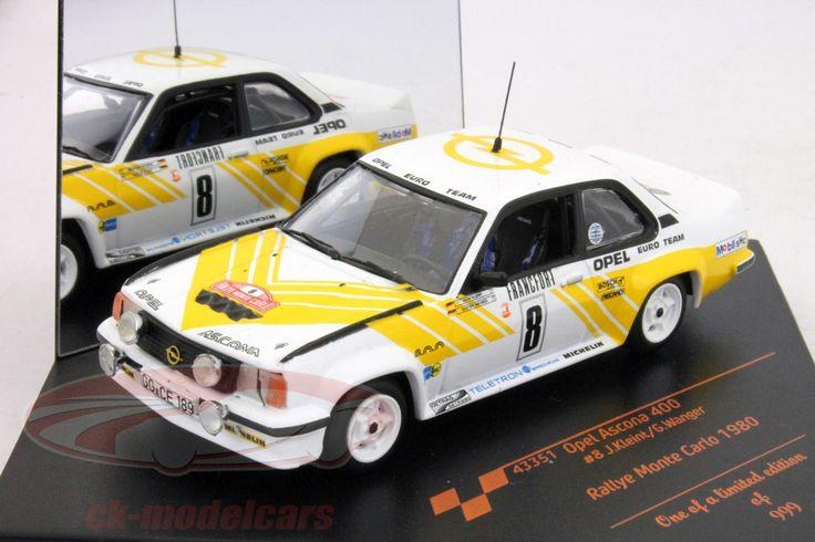 Opel Ascona 400, Rally Monte Carlo 1980, No.8, J.Kleint / G.Wanger, Opel Euro Team. Vitesse, 1/43, Limited Edition 999 pcs. Price (2016): 20 EUR.
