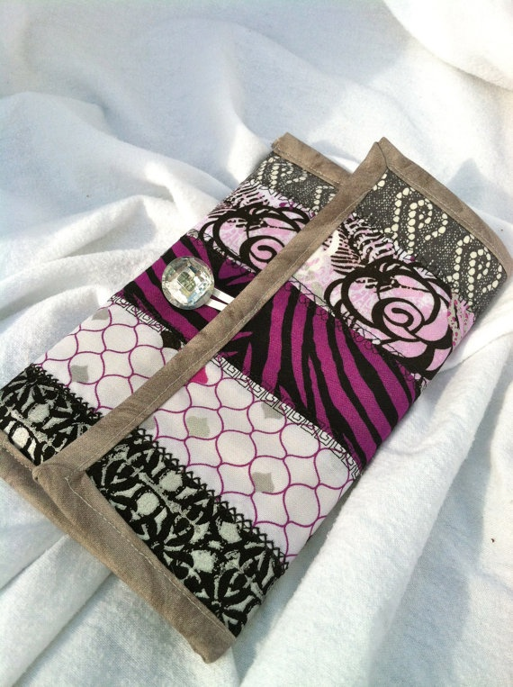 Kindle Touch Cover  Handmade Quilted Cotton  Purple by SuzySewz