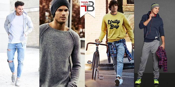 How to style sweatshirts- 6 Groovy Tips for men #sweatshirtstyle #groovytipsformen #mensfashion Read here- https://trendybharat.com/blog/2016/11/18/how-to-style-sweatshirts-groovy-tips-for-men/