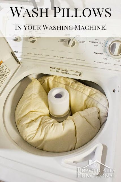 Did you know you can wash and whiten pillows in your washing machine?! This tutorial shows you how, and they come out bright white like they're brand new again! Works for pillow covers too!