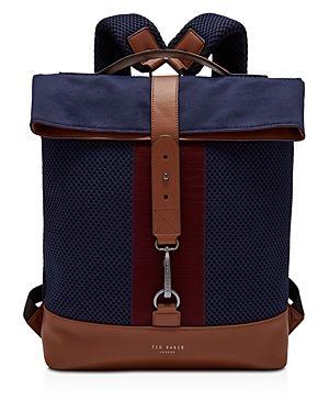 3328a364e52c8 TED BAKER RUNER KNITTED FOLD-OVER RUCKSACK.  tedbaker  bags  knit ...