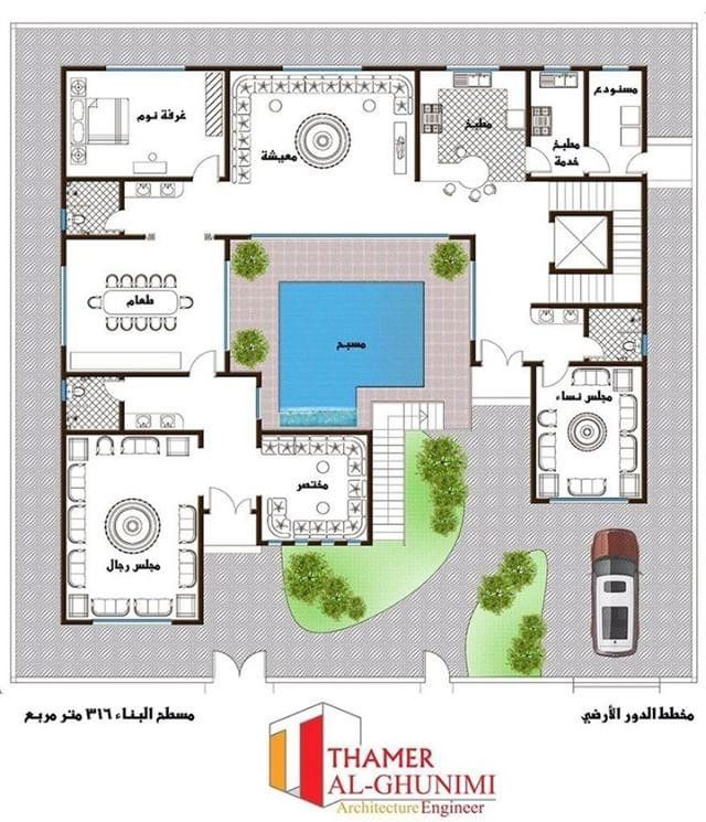 Pin By Azza Alkhatri On Maps House Design Pictures Family House Plans Indian House Plans