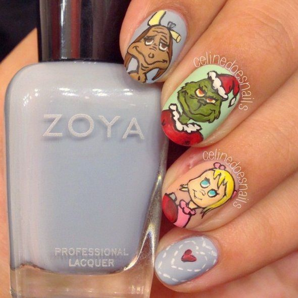 Grinch Holiday Nail Art Ideas | 25 Grinch-Inspired Nail Art Ideas That Are Wickedly Festive | POPSUGAR Beauty Photo 16