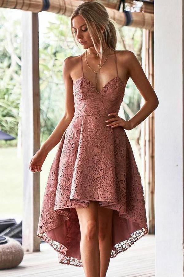 Vestidos de festa Morden com desconto, Vestidos de noiva corados, Vestidos de noiva com renda   – ✿Homecoming Dresses 2019✿