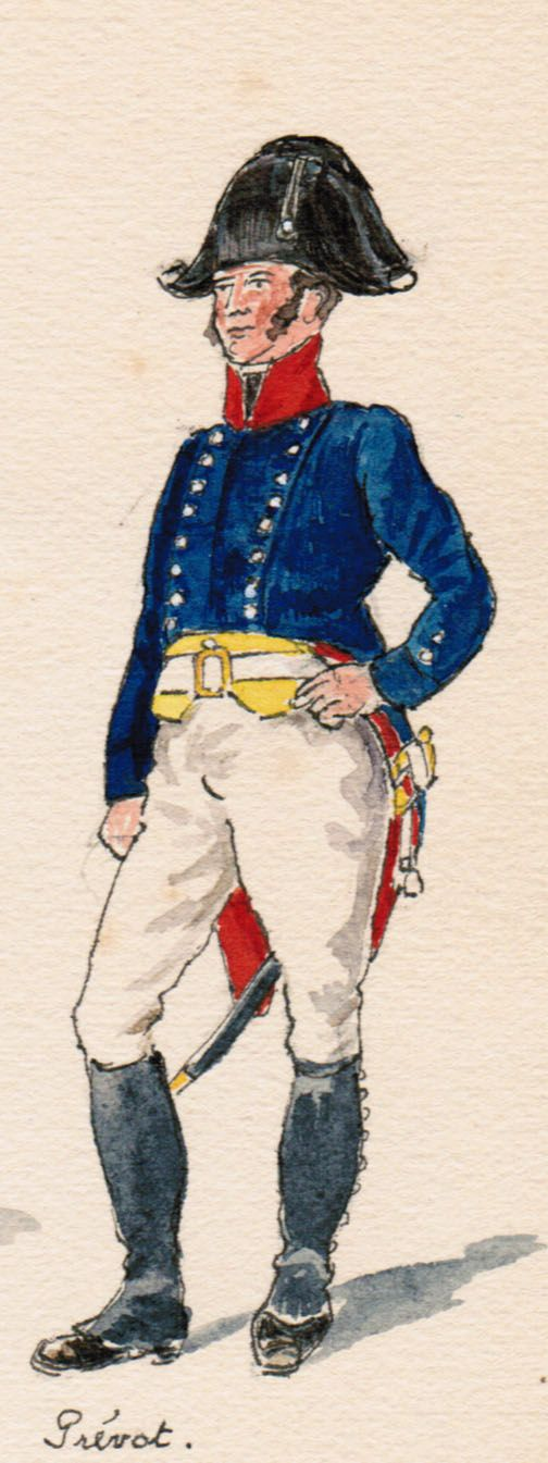 Régiment d'Infanterie du corps du Grand Duc Prévot  1806-1808