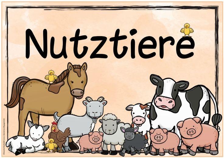 Neues Themenplakat zu Nutztieren    Das nächste Themenplakat  für den Sachunterricht ist fertig und stellt dieses Mal die Nutztiere in den...