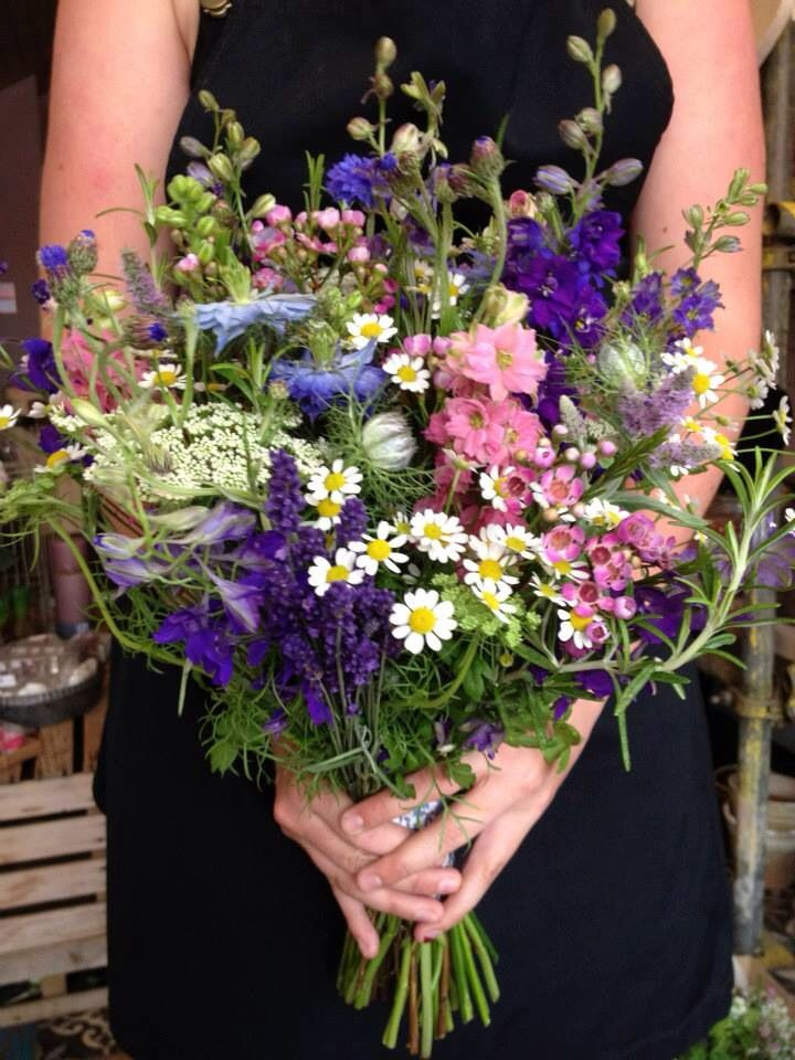 An Upright And Wild Design Using Meadow Flowers I E
