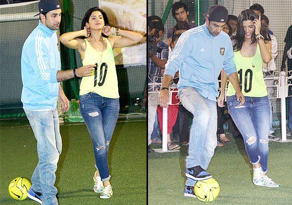 Ranbir Kapoor with actress Deeksha Seth