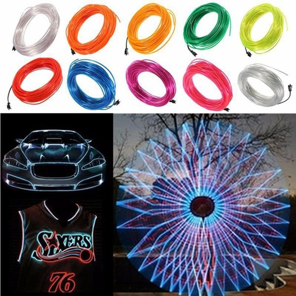 20m El Led Flexible Soft Tube Wire Neon Glow Car Rope Strip Light Xmas Decor Dc 12v Led Strip From Lights Lighting On Banggood Com Xmas Decorations Strip Lighting Neon Glow