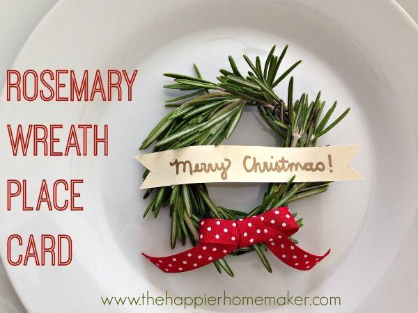rosemary wreath placecard