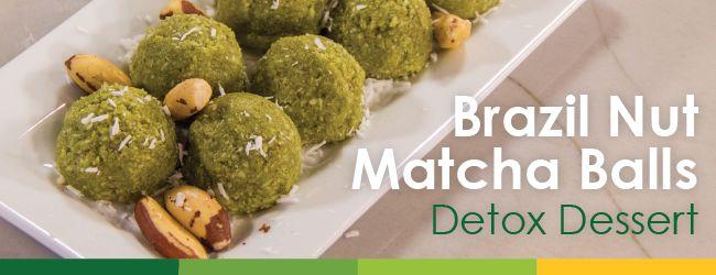 Brazil Nut Matcha Balls