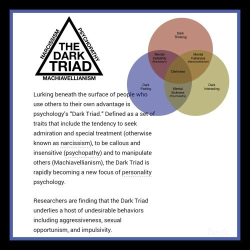 The dark triad... narcissist,  psychopath, and machiavellian all in one.