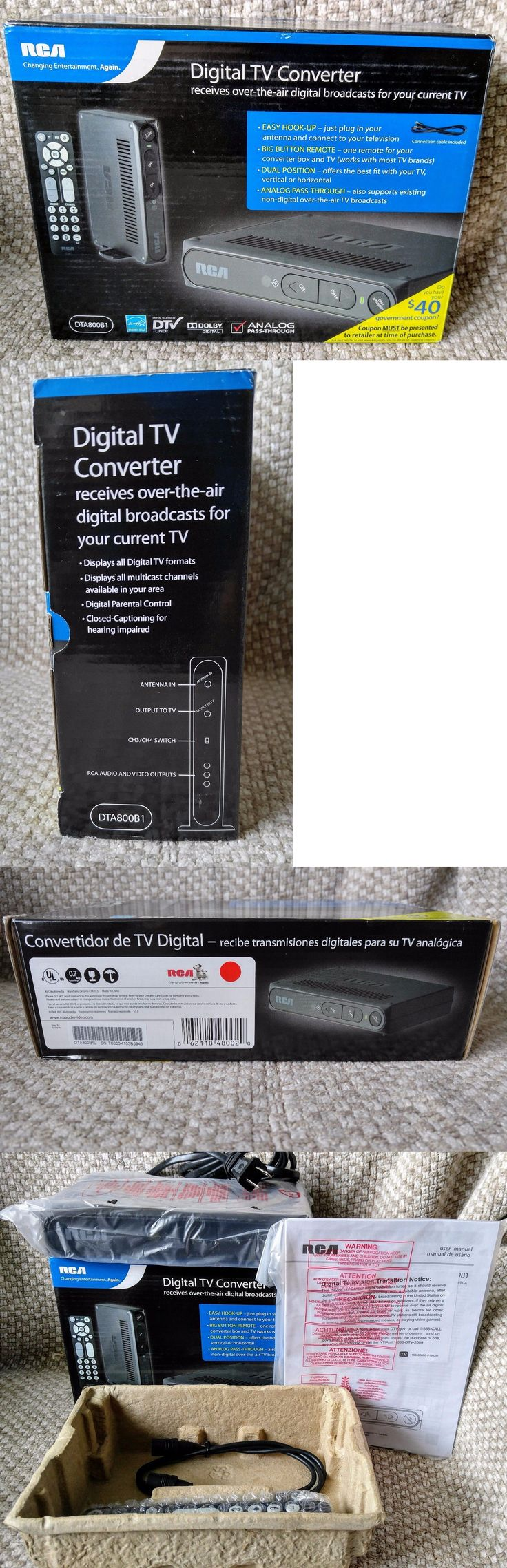 Cable TV Boxes: New Rca Digital Tv Converter Box Remote Dta800b1 Dolby Analog Pass Through Energ -> BUY IT NOW ONLY: $34.95 on eBay!